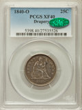Seated Quarters: , 1840-O 25C Drapery XF40 PCGS. CAC. PCGS Population (11/55). NGCCensus: (4/58). Mintage: 43,000. Numismedia Wsl. Price for ...