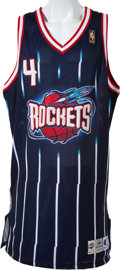 Basketball Collectibles:Uniforms, 1996-97 Charles Barkley Game Worn Houston Rockets Jersey. ...