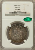 Bust Half Dollars: , 1835 50C AU55 NGC. CAC. O-107. NGC Census: (111/400). PCGSPopulation (130/259). Mintage: 5,352,006. Numismedia Wsl. Price ...