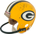 Football Collectibles:Helmets, Early 1980's Jan Stenerud Game Worn, Multi Signed Green Bay PackersHelmet....