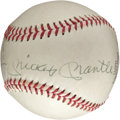 Autographs:Baseballs, Circa 1980 Mickey Mantle, Roger Maris & Billy Martin Signed Baseball....
