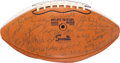 Football Collectibles:Balls, 1970 Notre Dame Team Signed Football. ...