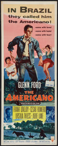 "Movie Posters:Western, The Americano (RKO, 1954). Insert (14"" X 36""). Western.. ..."