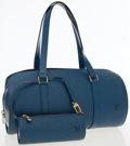Luxury Accessories:Bags, Louis Vuitton Blue Epi Leather Soufflot Shoulder Bag with Pochette.... (Total: 2 Items)