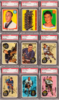 Hockey Cards:Sets, 1961 Topps Hockey High Grade Complete Set (66). ...