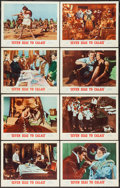 """Movie Posters:Adventure, Seven Seas to Calais (MGM, 1962). Lobby Card Set of 8 (11"""" X 14"""").Adventure.. ... (Total: 8 Items)"""