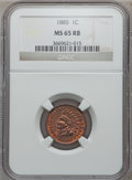 1885 1C MS65 Red and Brown NGC. NGC Census: (79/19). PCGS Population (65/4). Mintage: 11,765,384. Numismedia Wsl. Price...