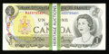 Canadian Currency: , BC-46b $1 1973 100 Consecutive Examples. ... (Total: 100 notes)