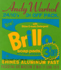Prints, ANDY WARHOL (American, 1928-1987). Brillo Soap Pads (Pasadena Art Museum exhibition poster, 1970). Color poster. 30 x 26...