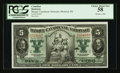 Canadian Currency: , Montreal, PQ- Banque Canadienne Nationale $5 Feb. 1, 1925 Ch.85-10-02. ...