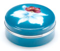 Asian:Japanese, A JAPANESE ENAMEL LIDDED BOX. 20th century. 1-1/2 inches high x3-1/2 inches diameter (3.8 x 8.9 cm). ...