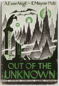 Books:Signed Editions, A.E. van Vogt and E. Mayne Hull. SIGNED. Out of the Unknown. Los Angeles: Fantasy Publishing, 1948. First edition, f...