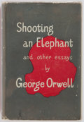Books:First Editions, George Orwell. Shooting an Elephant and Other Essays.London: Secker and Warburg, 1950. First edition, first publish...