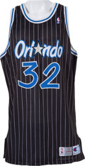 Basketball Collectibles:Uniforms, 1993-94 Shaquille O'Neal Game Worn Orlando Magic Jersey....