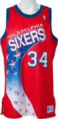 best service 8651a 022b6 Circa 1991 Charles Barkley Game Worn Philadelphia 76ers ...