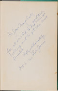 Golf Collectibles:Autographs, 1960 Bobby Jones Signed Book to His Personal Secretary. ...
