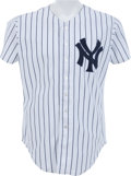Baseball Collectibles:Uniforms, 1991 Mickey Mantle Game Worn New York Yankees Coach's Jersey....