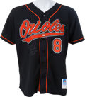Baseball Collectibles:Uniforms, 1995 Cal Ripken, Jr. Game Worn Signed Baltimore Orioles Jersey....
