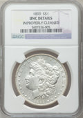 Morgan Dollars: , 1899 $1 -- Improperly Cleaned -- NGC Details. UNC. NGC Census:(62/7608). PCGS Population (39/10159). Mintage: 330,846. Num...