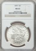 Morgan Dollars: , 1899 $1 MS63 NGC. NGC Census: (2603/3495). PCGS Population(3573/5024). Mintage: 330,846. Numismedia Wsl. Price for problem...