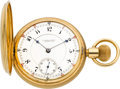 Timepieces:Pocket (pre 1900) , E. Howard & Co. Rare Series VII Gold 17 Jewel Split Plate,circa 1894. ...