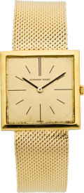 Timepieces:Wristwatch, Audemars Piguet Ultra Thin Gold Wristwatch, circa 1960's. ...