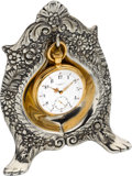 Timepieces:Pocket (pre 1900) , Tiffany & Co. Gold Quarter Hour Repeater With Tiffany SilverHolder, circa 1880's. ... (Total: 2 Items)