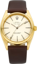 "Timepieces:Wristwatch, Rolex 18k Gold Modified Ref. 6556 ""Tru-Beat"" Oyster Perpetual Chronometer, circa 1956. ..."