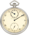 Timepieces:Pocket (post 1900), Ed Koehn Platinum Regulator For J.E. Caldwell & Co., circa 1920's. ...