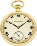 Timepieces:Pocket (post 1900), Patek Philippe & Co. Fine Gold Pocket Watch, circa 1918. ...