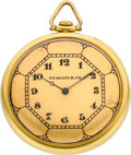 "Timepieces:Pocket (post 1900), Waltham Maximus ""A"" Unusual Gold Case With Patent Setting Device,circa 1925. ..."
