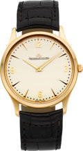 Timepieces:Wristwatch, Jaeger LeCoultre Rose Gold Master Ultra Thin Ref. 172.2.79S, circa2008. ...