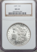 Morgan Dollars: , 1899 $1 MS65 NGC. NGC Census: (587/78). PCGS Population (1099/216).Mintage: 330,846. Numismedia Wsl. Price for problem fre...