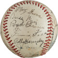 Autographs:Baseballs, 1935 American League All-Star Team Signed Baseball....