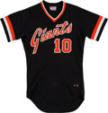 Baseball Collectibles:Uniforms, 1980 Johnnie LeMaster Game Worn San Francisco Giants Jersey....