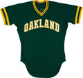 Baseball Collectibles:Uniforms, 1984 Donnie Hill Game Worn Oakland A's Jersey. ...