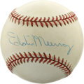 Autographs:Baseballs, Eddie Murray Single Signed Baseball. 500 Home Run Club member EddieMurray was a juggernaut in most offensive categories in...