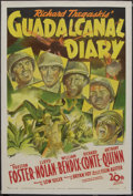 "Movie Posters:War, Guadalcanal Diary (20th Century Fox, 1943). One Sheet (27"" X 41"").War. ..."