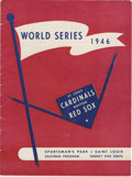Autographs:Others, 1946 Official World Series Program Signed by Members of the St.Louis Cardinals. Official World Series program from the St....