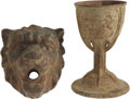 Movie/TV Memorabilia:Props, Universal Pictures Vintage Chalice and Lion Head Props. Includes aniron medieval-style chalice and heavy wrought iron lion'... (Total:1 Item)
