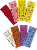 Music Memorabilia:Tickets, Beatles Suffolk Downs Complete Set of 8 Unused Tickets. A completeset of all eight color-coded tickets for the Beatles Augu...(Total: 1 Item)