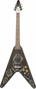 Musical Instruments:Electric Guitars, 2006 Gibson American-Made Flying V with Snake Skin Custom Finish.This beautiful custom-finished Gibson USA Flying V was cre...