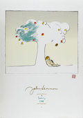 "Music Memorabilia:Original Art, John Lennon ""A Family tree"" Lithograph. An 24"" x 36"" lithograph ofa watercolor painting by John Lennon, titled ""A Family Tr...(Total: 1 Item)"