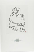 "Music Memorabilia:Original Art, John Lennon ""The Hug"" Limited Edition Lithograph. An 24"" x 36"" lithograph of an ink drawing by John Lennon, titled ""The Hug,... (Total: 1 Item)"