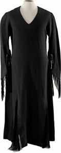 "Movie/TV Memorabilia:Costumes, ""The Addams Family"" Christina Ricci Screen-Worn Dress. WednesdayAddams' black gothic dress rendered in the style of her mot...(Total: 1 Item)"