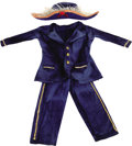 "Movie/TV Memorabilia:Props, ""Howdy Doody"" Original Puppet Costume. Phineas T. Bluster's admiralcostume ensemble featuring a royal blue cotton formal ja... (Total:1 Item)"