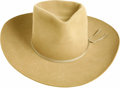 "Movie/TV Memorabilia:Costumes, ""Stoney Burke"" Jack Lord's Cowboy Hat. Before actor Jack Lord wasDetective Steve McGarrett, he played rodeo rider Stoney Bu...(Total: 1 Item)"