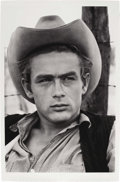 "Movie/TV Memorabilia:Photos, James Dean Large-Format Portrait by Richard C. Miller. An epicb&w 40"" x 61"" close-up of a larger-than-life James Dean onth... (Total: 1 Item)"