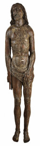 Miscellaneous, A Carved Oak Figure of Christ. . Unknown maker, France. 15th century. Wood with traces of paint. Unmarked. 78 x 18 inche...