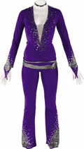 Music Memorabilia:Costumes, Britney Spears Stage Worn Costume. A purple lycra jumpsuit with mirror accents worn by Spears during performances on an unsp... (Total: 1 Item)